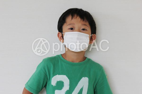マスクをする男の子の写真