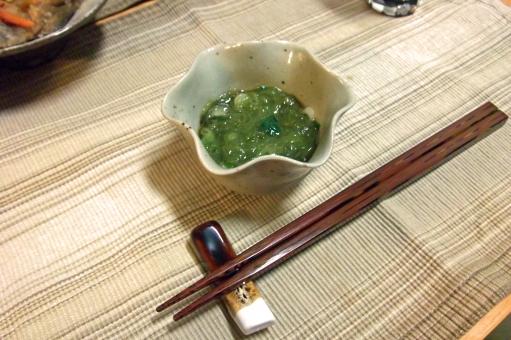 めかぶ 雌株 メカブ 海藻 箸休め 小鉢 食器 はし 箸 食べ物 食品 料理 調理 グルメ 食 食事 食卓 食料品 食糧 ヌタ類 ムチン 青物
