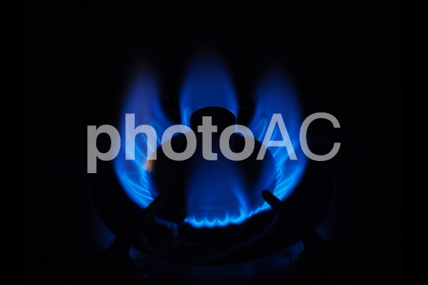 ガスの炎の写真