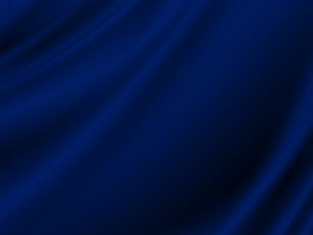 青いサテンのドレープ素材の写真
