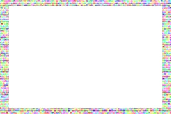虹のタイル横2の写真