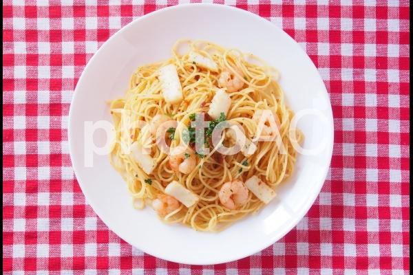 魚介のペペロンチーノの写真