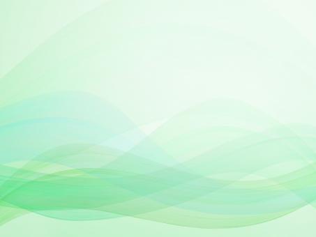 緑の流線型抽象背景素材の写真