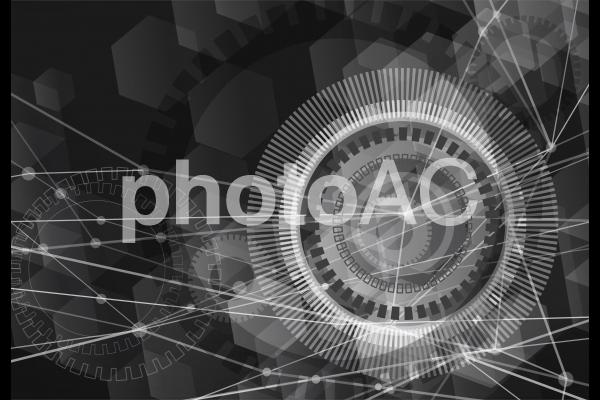 黒のネットワークテクノロジー抽象背景素材の写真