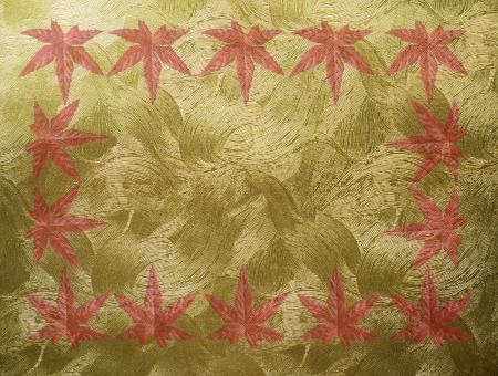 メッセージ フレーム 綺麗 素材 加工 カード 和風 飾り 秋 もみじ 紅葉 壁紙 模様 金色 ゴールド 和紙 祝い事 高級 金箔 合成 背景用画像