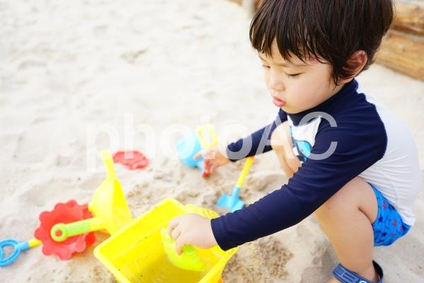 砂遊びの写真