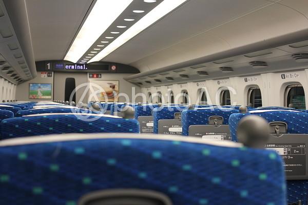 新幹線の車内の写真