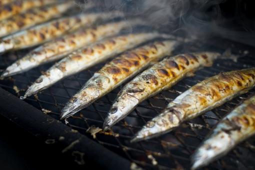 サンマ さんま 秋刀魚 秋の味覚 秋 鮮魚 さかな サカナ 魚 焼き魚 焼きざかな 秋刀魚の塩焼き サンマの塩焼き さんまの塩焼き グリル 炭火 炭焼き 焼き目