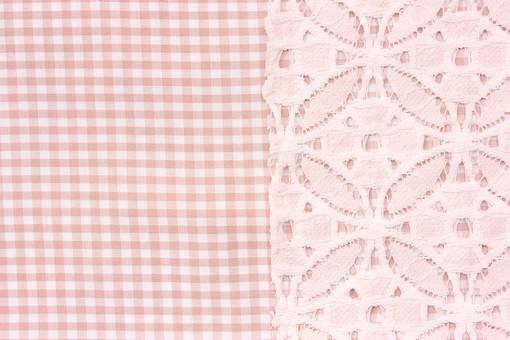 布 織物 チェック 格子 生地 綿 木綿 背景 背景素材 バック パターン バックグラウンド テーブルクロス 柄 模様 テクスチャ テクスチャー 素材 壁紙 テキスタイル 布地 チェック柄 ギンガムチェック カジュアル ナチュラル レース 白色 ピンク色 ピンク