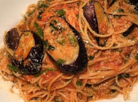 ナスとトマトのパスタ ナスのパスタ トマトパスタ パスタ pasta