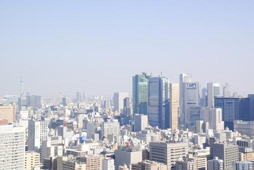 建物 建築 建築物 施設 ビル ビル群 都会 オフィス街 仕事 ビジネス 会社 生活 窓 高層ビル街 並ぶ 多い 沢山 密集 集まる 高い 空 室外 屋外 無人 景観
