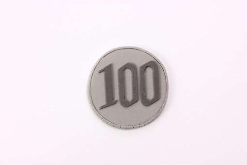 アート 芸術 もの 作品 無機物 美術 手作り クレイアート 粘土 やさしい かわいい つくる 細かい イメージ ビジネス 会社 お金 借金 ローン 借りる 硬貨 コイン 通貨 金持ち 100円玉 百円 小銭