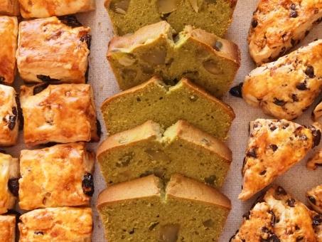 スコーン チョコチップ 抹茶 パウンドケーキ 小麦粉 バター 栗 おいしい 美味しい 甘い ケーキ 焼き菓子 おやつ