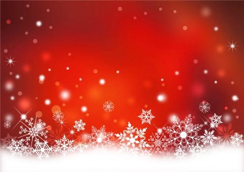 クリスマス_レッド背景の写真