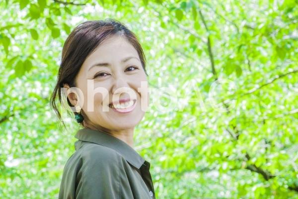 笑顔・女性・ポートレートの写真
