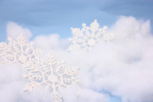 クリスマス クリスマスイメージ イベント 行事 オーナメント クリスマスオーナメント 冬 飾り 雪 結晶 氷 綿 白 水色 ブルー