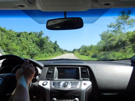 島のドライブの写真