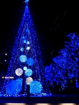 愛知 名古屋 イルミネーション 明かり あかり ライトアップ クリスマス Xmas Christmas 青 ブルー 夜景 夜空 冬