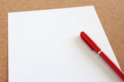 白い紙 白紙 用紙 書類 資料 赤ペン 筆記用具 ツール メモ めも 紙 ペーパー memo MEMO 背景 素材 背景素材 壁紙 フォーマット テンプレート 余白 フリースペース 無地 真っ白 アイデア 企画 コンテンツ 情報 手書き ピックアップ