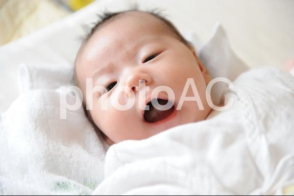 赤ちゃん・笑顔の写真