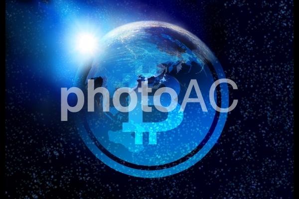 仮想通貨ビットコインの夜明けの写真