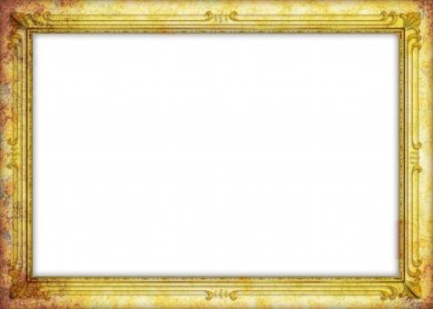 フレーム 枠 額縁 フォトフレーム アンティーク レトロ 古い 骨董 骨董品 懐古 絵画 絵 飾り罫 カザリケイ 余白 白地 ホワイトスペース frame 背景 背景素材 バック バックグラウンド background 茶色 金色 ゴールド gold 古美術 ヴィンテージ 年代物