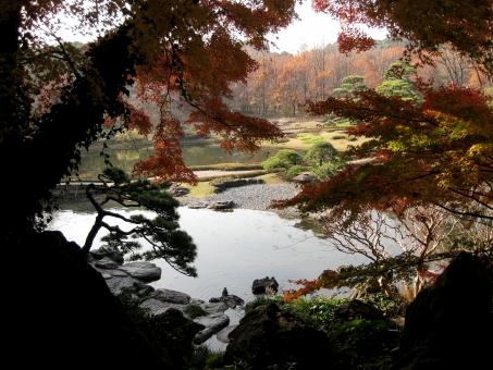城の庭の写真