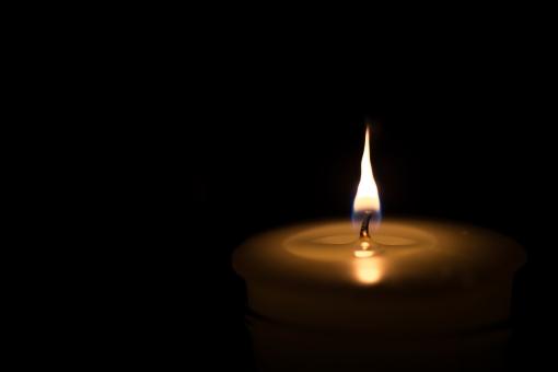 ローソクの炎のアップ6の写真