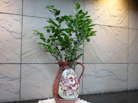 花 瑠璃アザミの写真