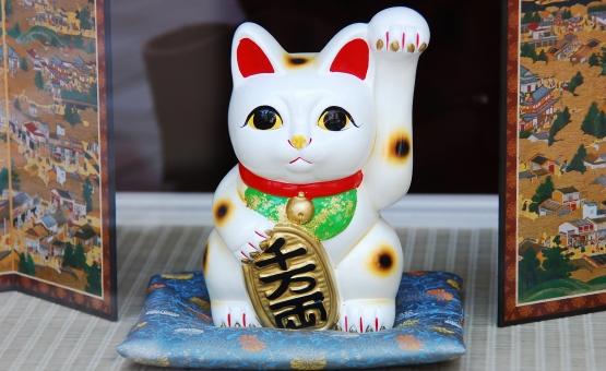 まねき猫 招き猫 猫 ねこ 縁起物 ジャパネスク 幸運 商売繁盛 千客万来 beckoning cat 御利益 日本 和風 和雑貨