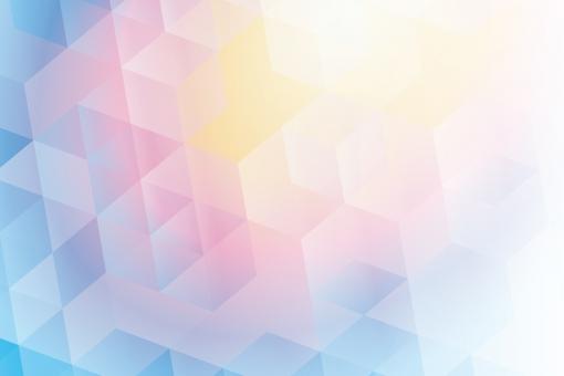 虹色の六角形抽象背景テクスチャ素材の写真