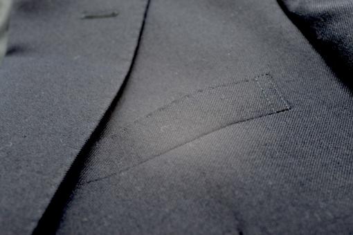 ジャケットの胸ポケットの写真