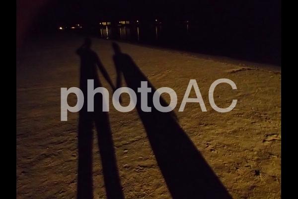 モルディブ/砂浜の影の写真