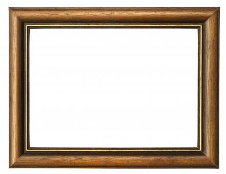 フレーム 額縁 木 背景 コピースペース 白バック 木目 バックグラウンド ウッド 茶色 ブラウン 天然素材 自然素材 金 枠 白バック飛ばし 背景素材