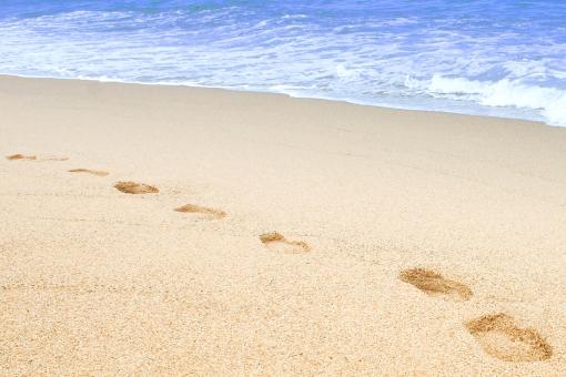 海 砂浜 海岸 波 風景 自然 景色 夏 海水浴 夏休み 青 足跡 海水 水泳 ダイビング リゾート 南国 背景