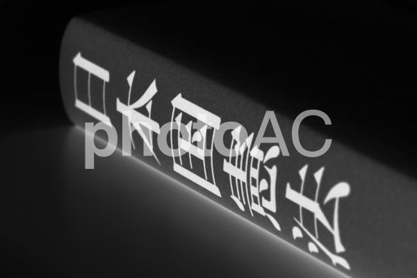 日本国憲法 モノクロ反転の写真