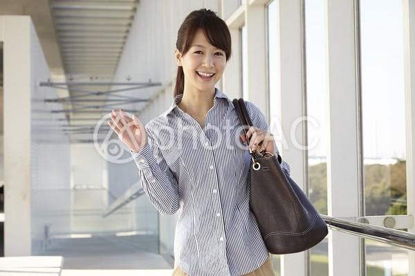 鞄を持つ日本人OL2の写真