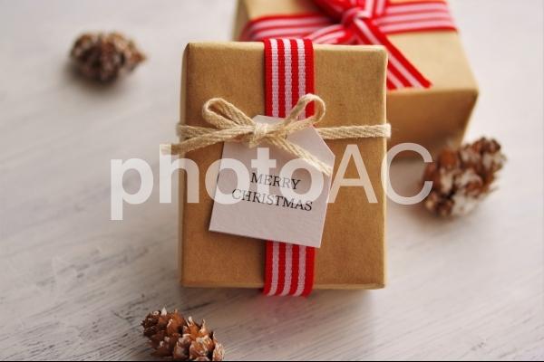 クリスマスプレゼントのギフトタグの写真