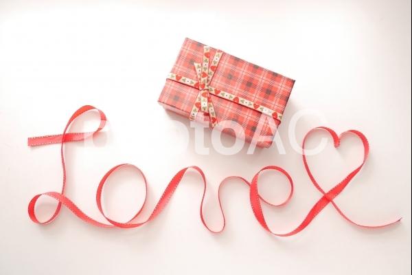 love プレゼントボックスの写真