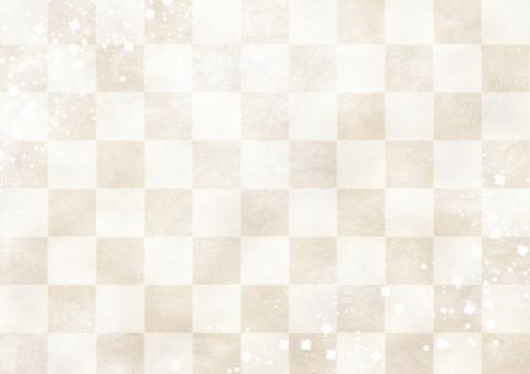 市松模様 白の写真