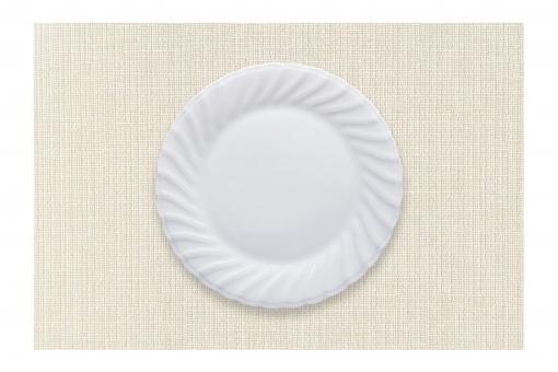 テーブル 食事 料理 素材 背景 ベージュ 食器 円形 テーブルクロス 布 皿 器 丸い クロス バック 丸皿 切り抜き 陶器 瀬戸物 白い器 レイヤー 抜き psd