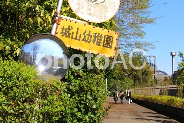 幼稚園への道の写真