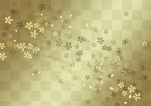 日本 和風 背景 バックグラウンド テクスチャー 市松 格子 伝統模様 文様 サクラ さくら 年賀状 年末年始 慶事 お正月 小正月 お祝い 行事 祝日 めでたい 華やか 雅やか