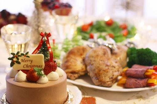 クリスマスパーティー クリスマス クリスマスケーキ チキン オードブル ローストビーフ