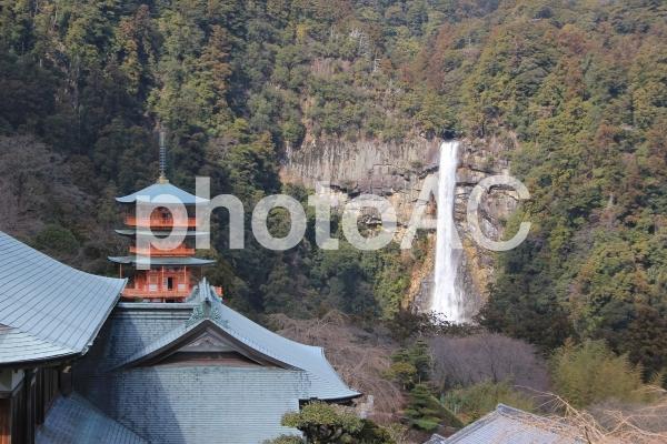 熊野 三重塔 那智の滝の写真