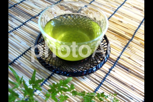 冷茶2 お茶 茶 日本茶 緑茶 グリーンティーの写真