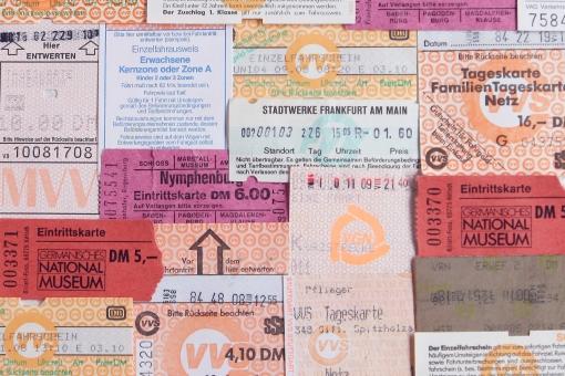 チケット 回数券 入場券 旅行 乗り物 ヨーロッパ ドイツ 料金 移動 バス 電車 美術館