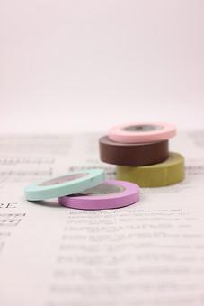 マスキングテープ テープ 紙テープ クラフトテープ マスキング 文房具 日用品 ラッピング かわいい 装飾 アンティーク ナチュラル レトロ 雑貨 古紙 雑貨 紙 新聞 英字新聞