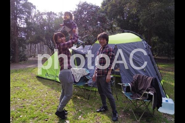 家族キャンプ1の写真