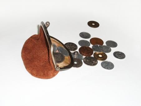がま口 ガマ口 財布 小銭 硬貨 日本貨幣 貨幣 お金 現金 マネー 支出 収入 出費 買物 ショッピング 節約 生活 小物 生活
